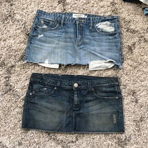 Bundle of two Jean skirts